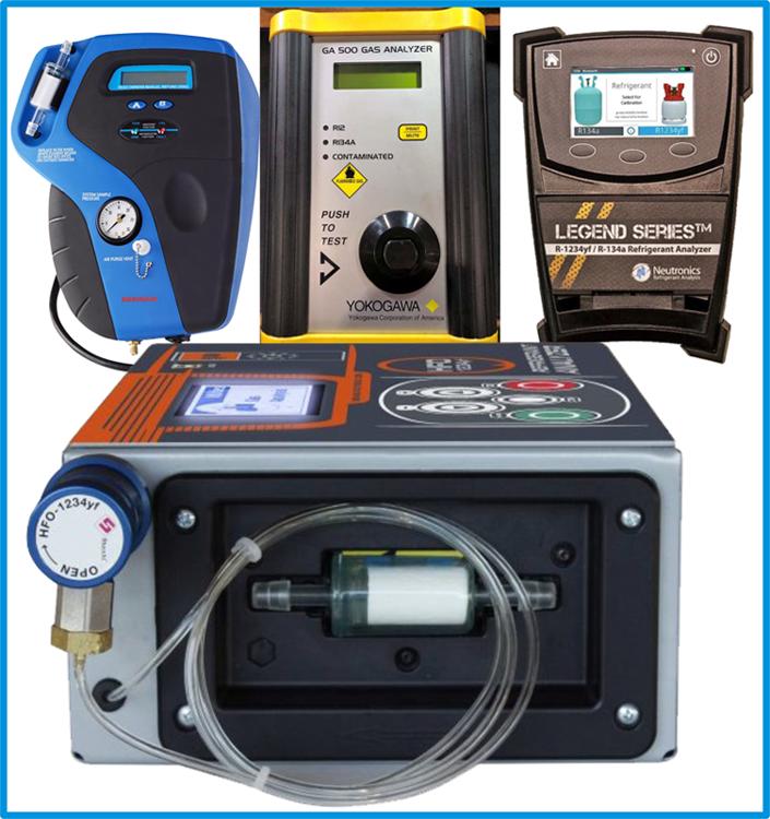 identyfikator czynnika klimatyzacji samochodowej, tester czynnika klimatyzacji