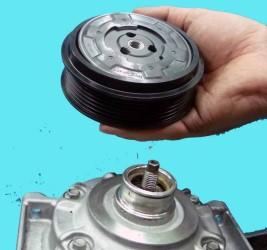 instrukcja naprawy napędu klimatyzacji, klucz do demontażu sprzęgła