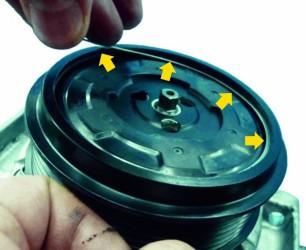 instrukcja wymiany napędu kompresora, sprężarka regenerowana, autoklima
