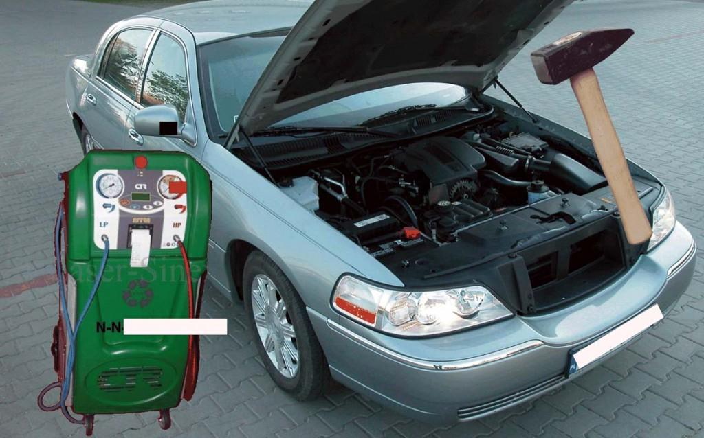 klimatyzacja samochodowa dobijanie napełnianie