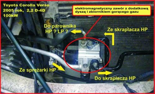 Auto klimatyzacja układ klimatyzacji z dyszą dławiącą