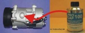 oleje do klimatyzacji, jak napełnić kompresor olejem, olej sprężarkowy